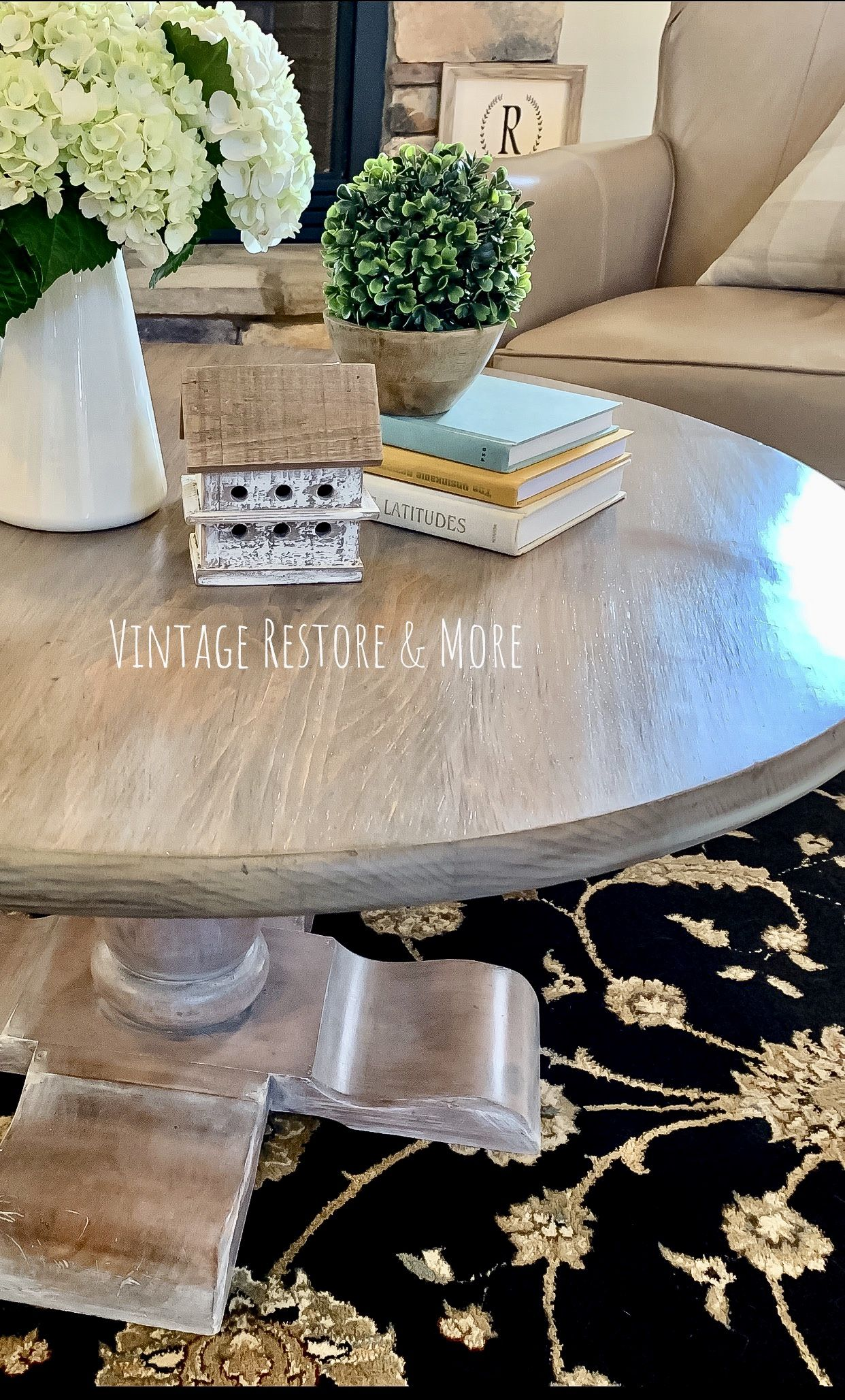 - Vintage Ethan Allen Pedestal Coffee Table Makeover. (With Images