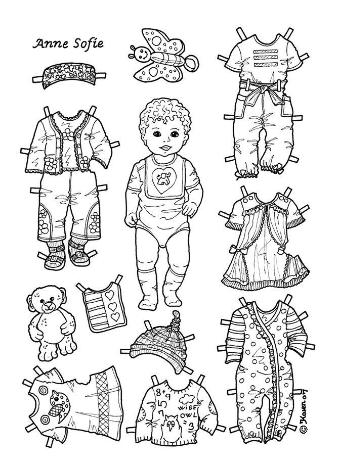 COLOR Karen`s Paper Dolls: Toddler ANNE SOFIE  3 of 6