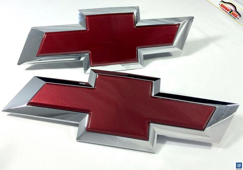 Chevy Silverado Bowtie Emblem Billet Insert Replacement 2pc Deep