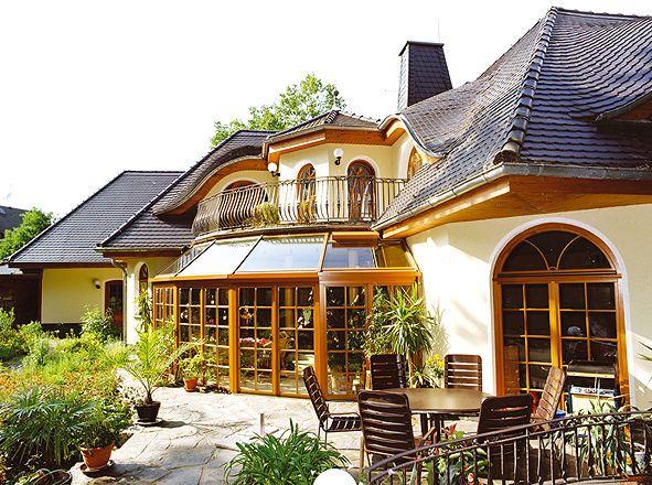 h user sch ne land haus villa bauen traum haus m wintergarten sunroom sophisticate. Black Bedroom Furniture Sets. Home Design Ideas