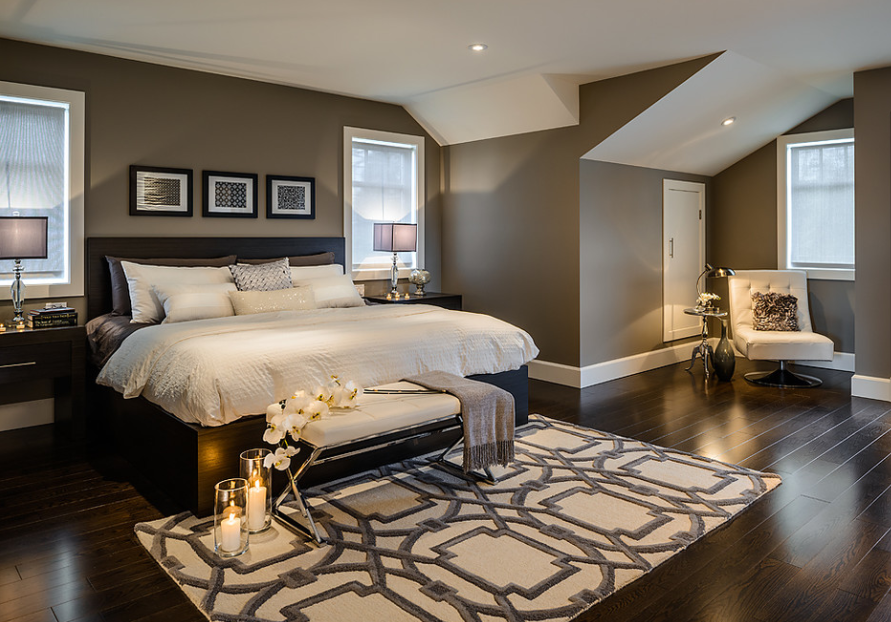 Cose La Camera Da Letto Padronale : Szürkés barna falszín fehér plafon bedroom camera da letto