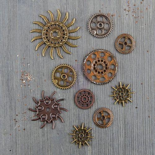 Prima Marketing Mechanicals Metal Embellishments 7-Pack Gears