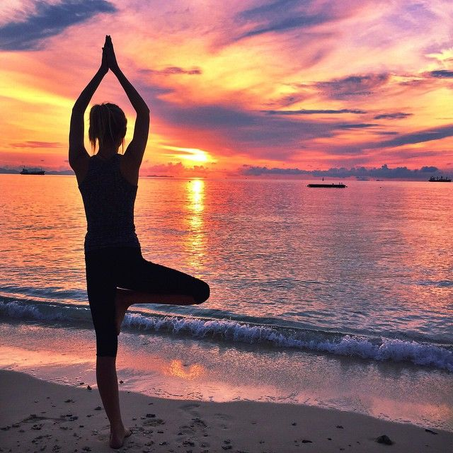 Yoga in paradijs