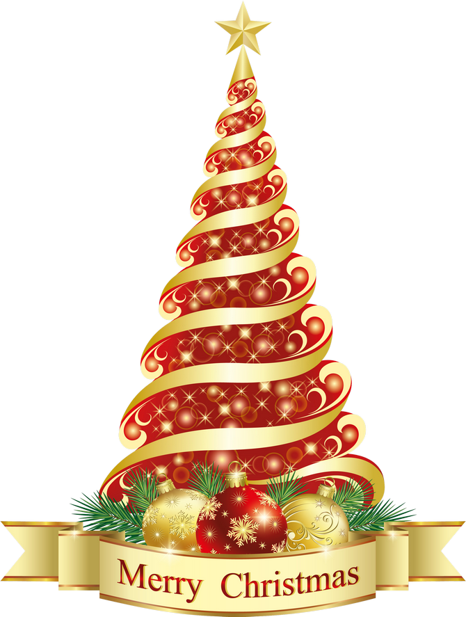 Merry Christmas Red Tree Png Clipart Christmas Tree Clipart Christmas Graphics Vintage Christmas Cards