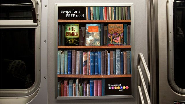 Underground Library Lets Subway Riders Sample Books On iPhones (by
