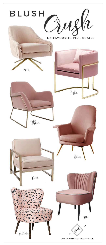 Blush Crush: My Favourite Blush Pink Chairs | Pink chairs, Crushes ...