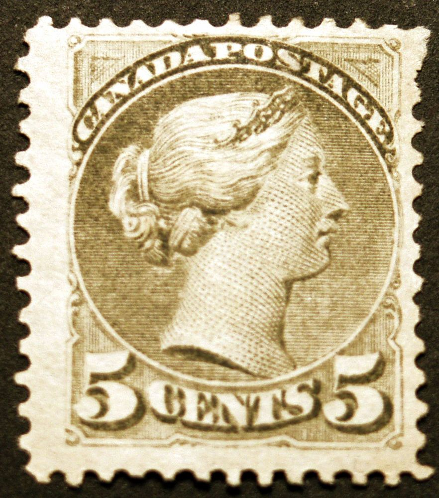 Canada 38 5c Slate Green 1876 Queen Victoria VF *MLH* CV