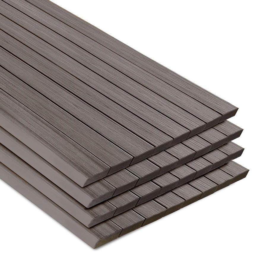 Trex Transcend 16 Ft Island Mist Composite Deck Board Im020616ts32 In 2020 Composite Decking Ft Island Mists