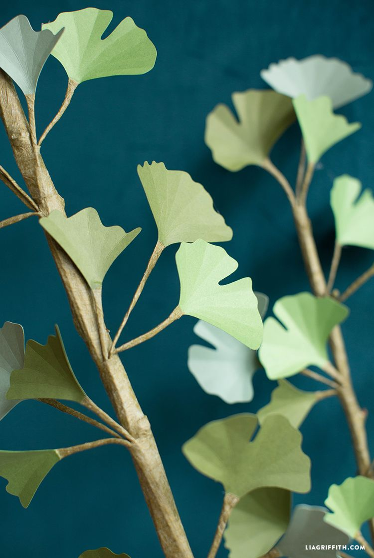Download A Free Pattern For A Paper Ginkgo Biloba Branch Flowers