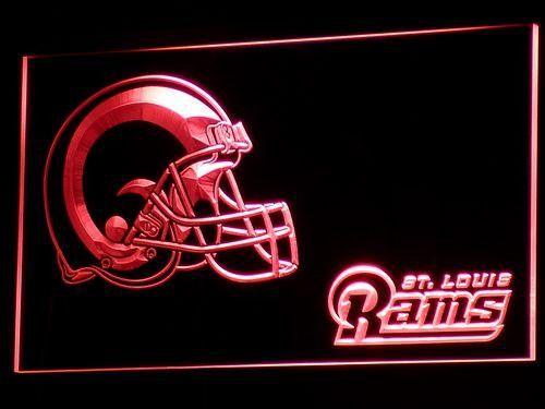 Los Angeles Rams Helmet LED Neon Sign - Legacy Edition