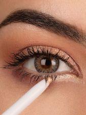 Photo of Lær hvordan du bruker rosegull øyenskygge, leppestift, eyeliner og tekst …