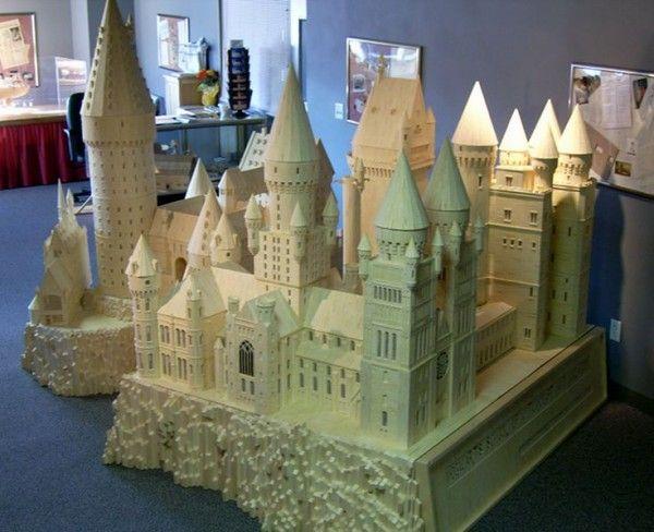 Hp Castillo De Hogwarts Paper Model Finished By Ana Wandmaker