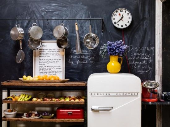 moon to moon fridges what ever happened to good design bohemian rh za pinterest com Vintage Chalkboard for Kitchen Minimalist Kitchen Chalkboard