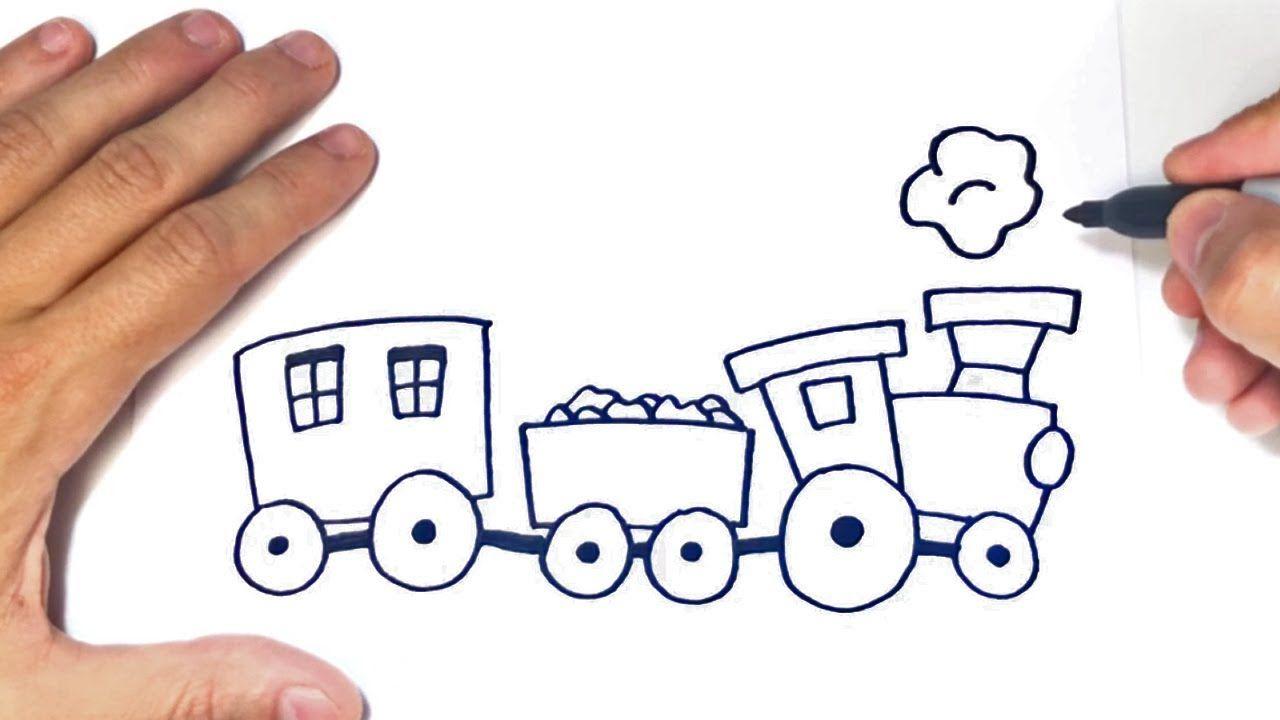 Como Dibujar Un Tren Paso A Paso Dibujo De Tren Dibujo Tren Trenes Para Ninos Como Dibujar