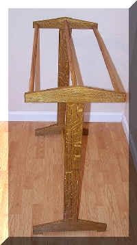 Quarter sawn oak Arts & Crafts/Mission Quilt Rack $150 including shipping in U.S. May choose from a variety of stain options.