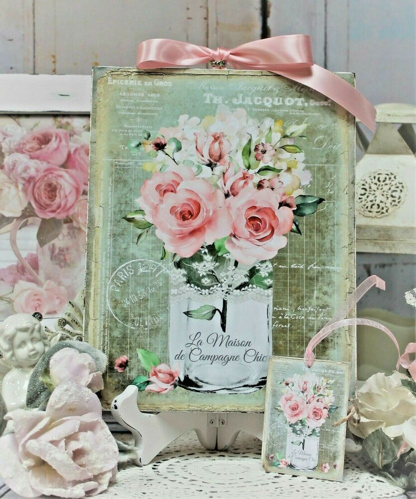 633/1941 e successive modifiche.non autorizziamo la pubblicazione dei testi, delle. Home Garden Mason Jar Pink Roses Bouquet Shabby Chic Handcrafted Plaque Lamaison Home Decor