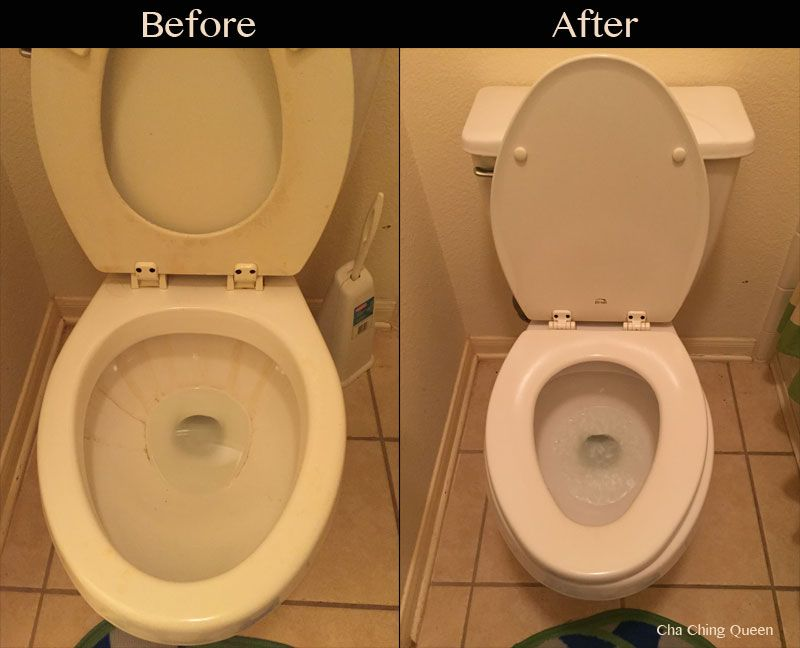 How To Clean A Toilet And How To Remove Hard Water Stains Hard