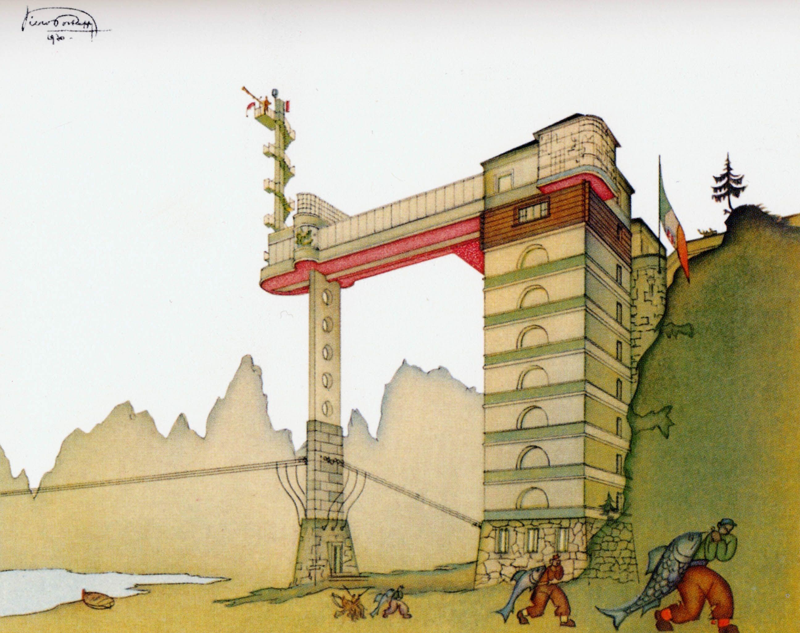 Villa necchi campiglio by piero portaluppi platform - Progetto Di Villa Per Le Otto Coppie In Val Formazza Piero Portaluppi 1930