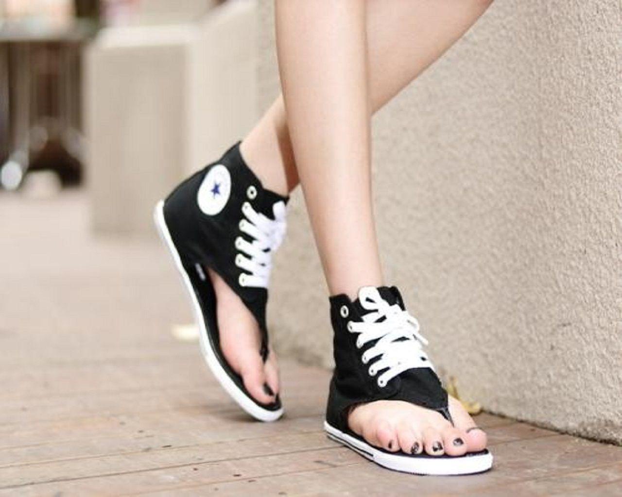 a598d25f343a96 Vesa Sports  All Star Thong Sandals(Black) Converse Sandals