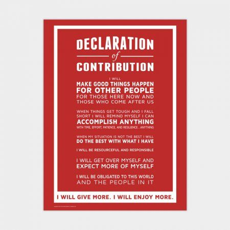 Declaration of Contribution 18x24 Poster (red) FACS General - declaration in resume