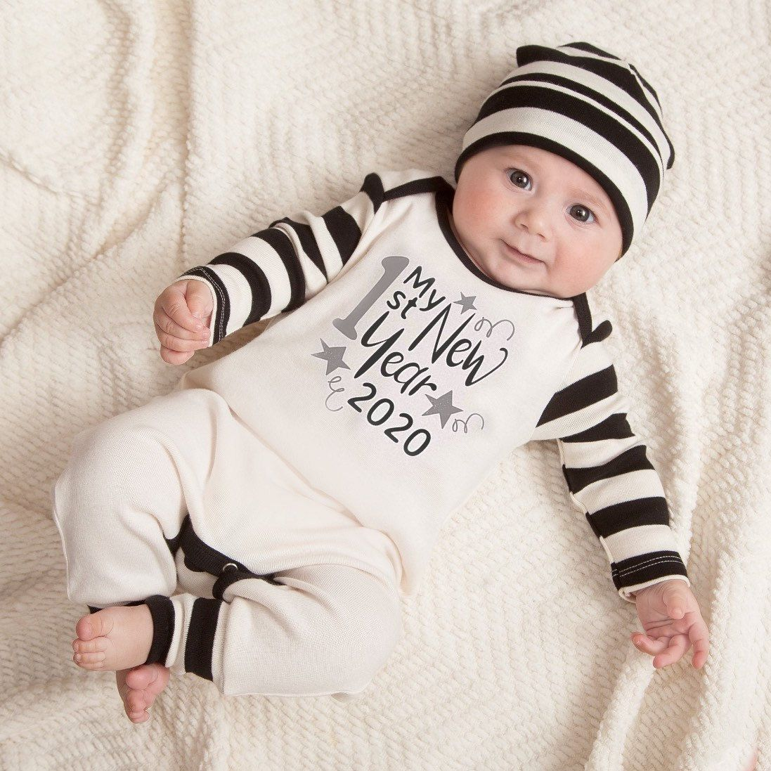 Baby New Year Outfit, Happy New Year 2020, Newborn New