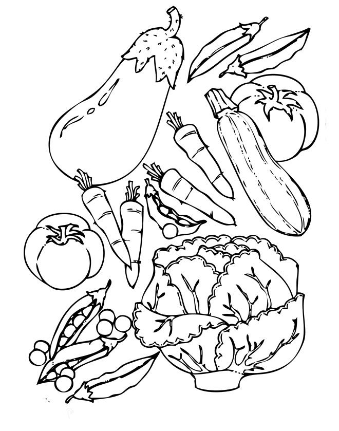 wide variety of healthy food vegetables coloring pages vegetables coloring pages kidsdrawing free coloring pages online
