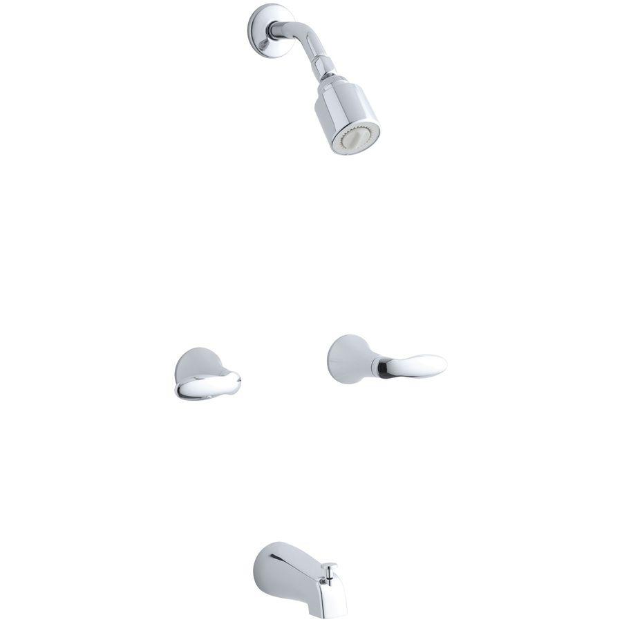 Kohler Coralais Polished Chrome 2 Handle Bathtub And Shower Faucet