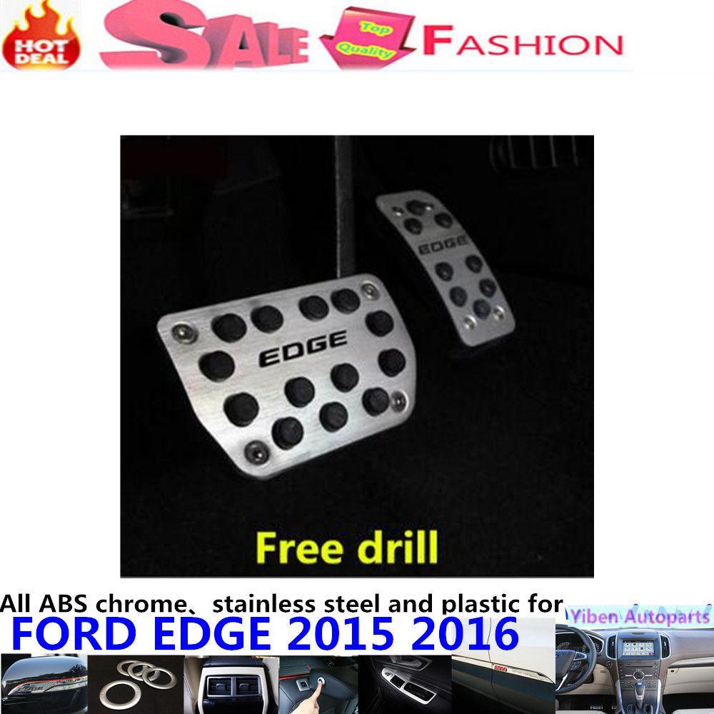 Free Drillcar Aluminium Alloy Foot Gas Petrol Oil Inner Brake Rest Lamp Frame Trim Pedal At For Ford Edge