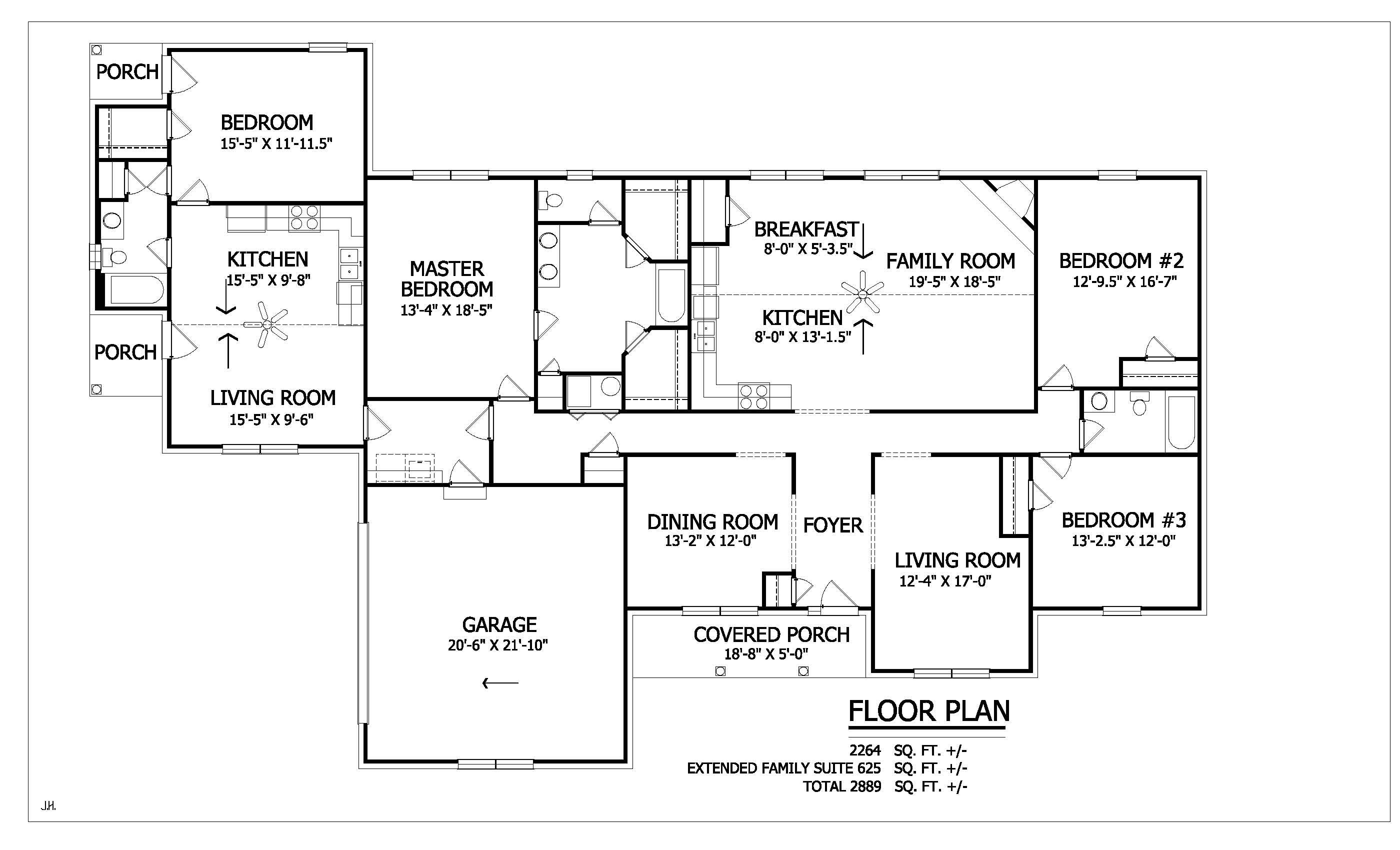 Extended Family Suites House Plans How To Plan Floor Plans