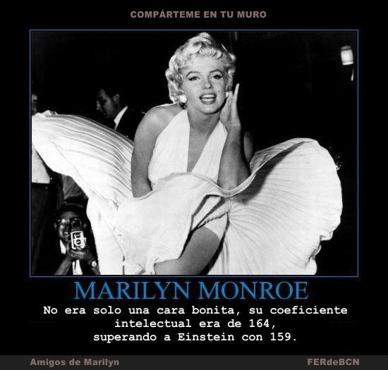 No Era Solo Una Cara Bonita Su Coeficiente Intelectual Era De 164 Superando A Einstein Con 159 Cara Bonita Marilyn Monroe Einstein