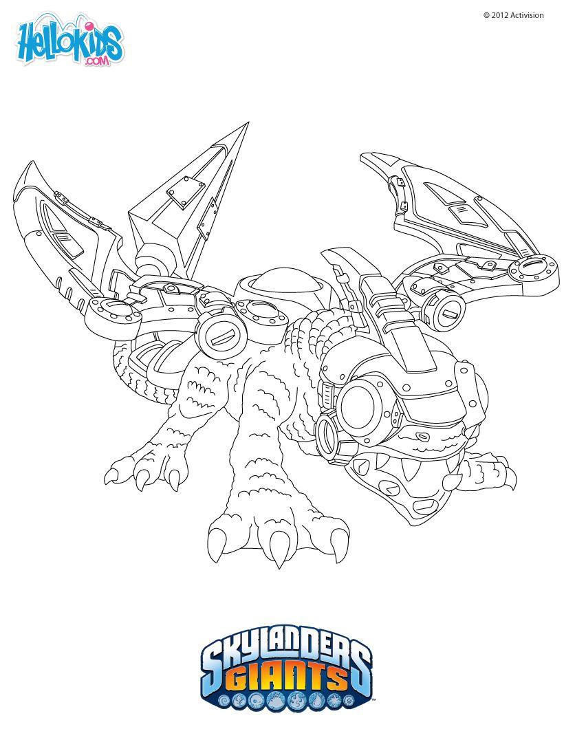 Skylanders GIANTS coloring pages - DROBOT  Ausmalbilder