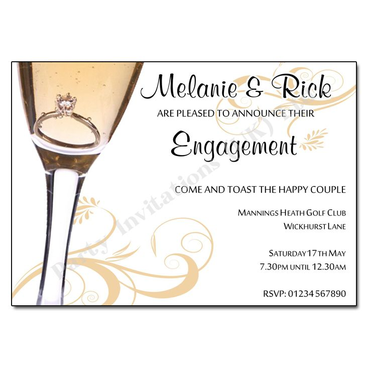 Home Engagement Party Invitations Proposal Engagement Invite ...