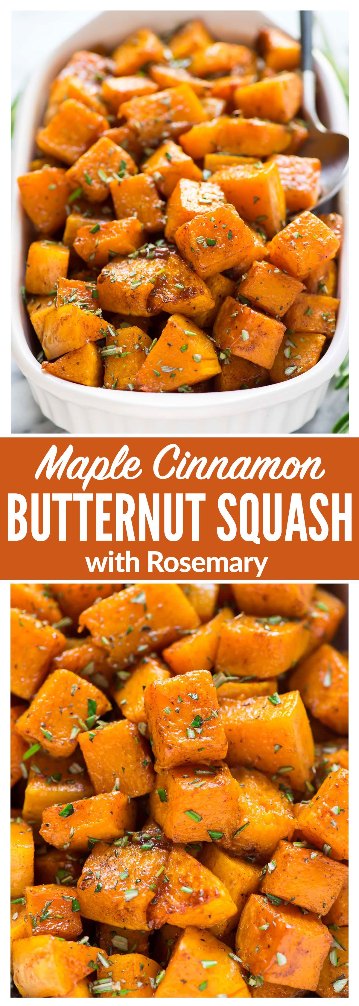 Easy Maple Cinnamon Roasted Butternut Squash Sweet Cubes Of