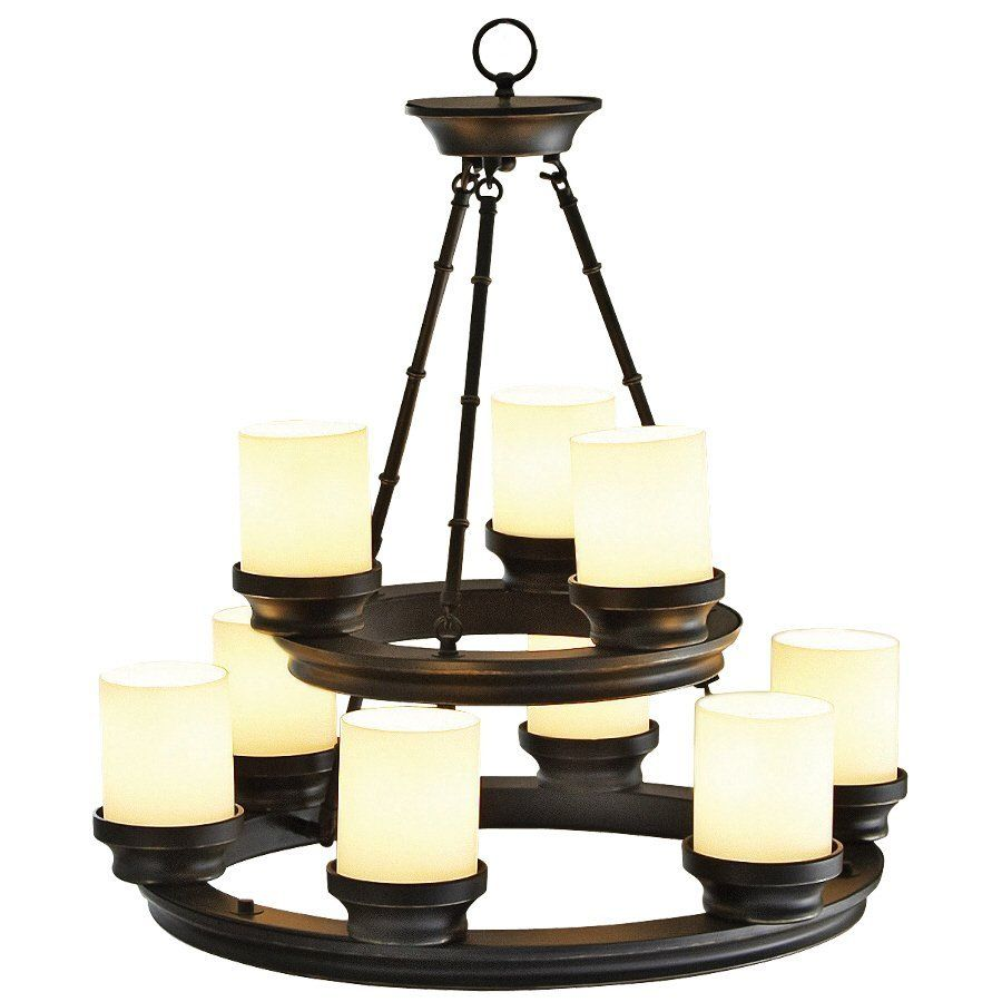 Portfolio 9 Light Bronze Chandelier