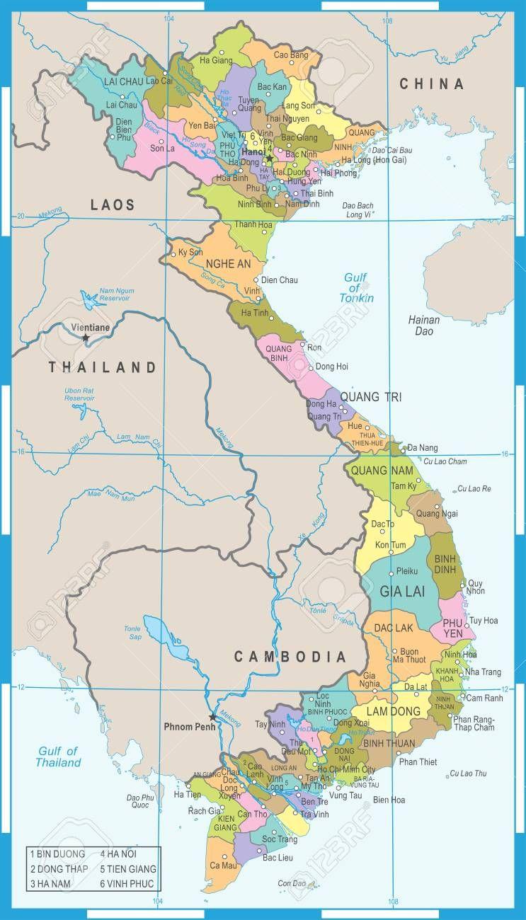 Vietnam Map High Detailed Vector Illustration Illustration Aff High Map Vietnam Illustration Vec Vietnam Map Vector Illustration Abstract Design