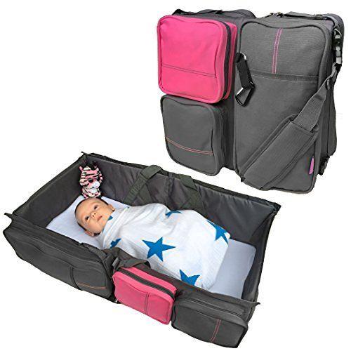 Amazon.com : Boxum 3 in 1 Portable Bassinet Diaper Change Station, Pink :  Baby