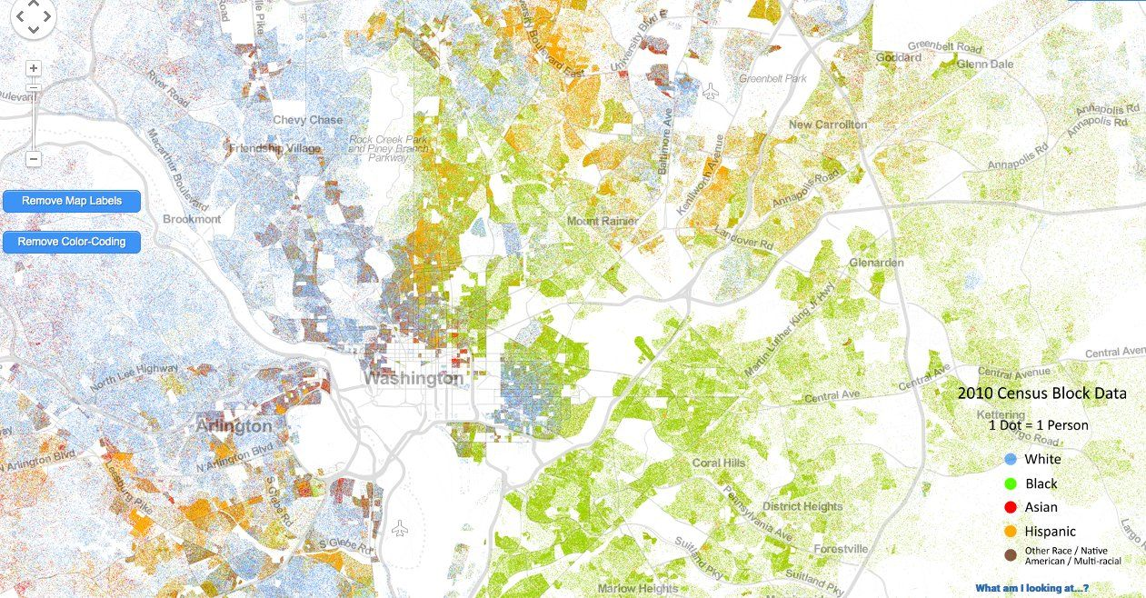 LOOK: Amazing Map Shows America\'s Segregation Problem   urbanism ...