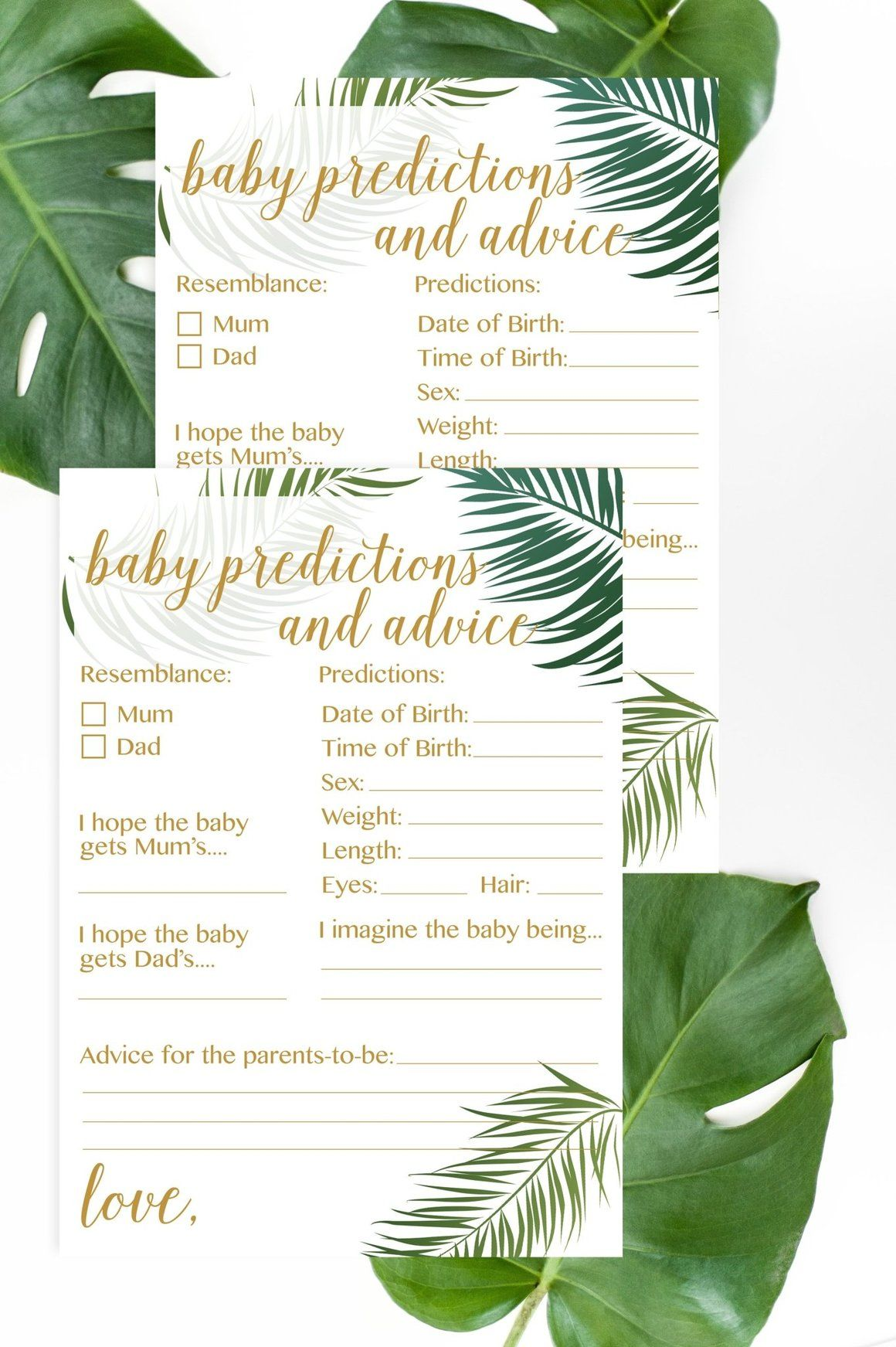 Baby predictions and advice mum version tropical