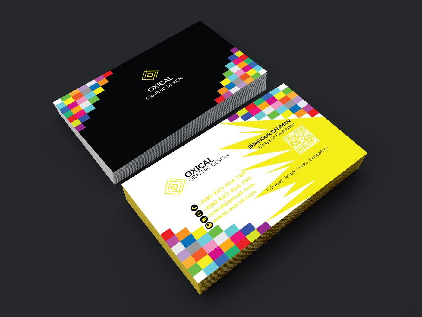 Check Out My Behance Project Rainbow Color Business Card Https Www Behance Net Gallery 58154317 Rainbow Color B Rainbow Colors Business Card Design Cards