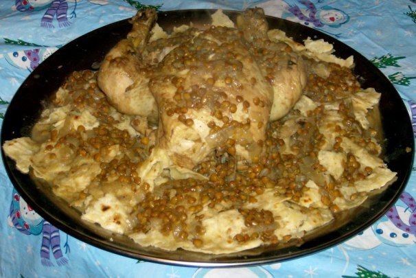 Rfissa (Moroccan Chicken With Lentils) | Recipe (With ...