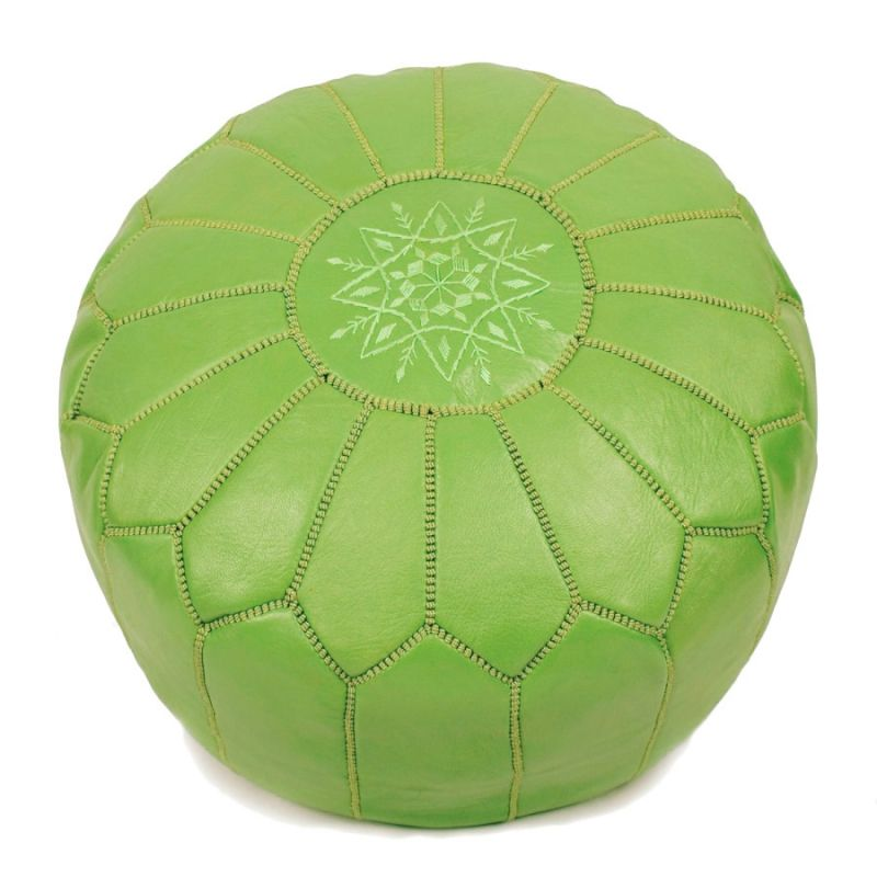 Pouffe Leather Green $81.46