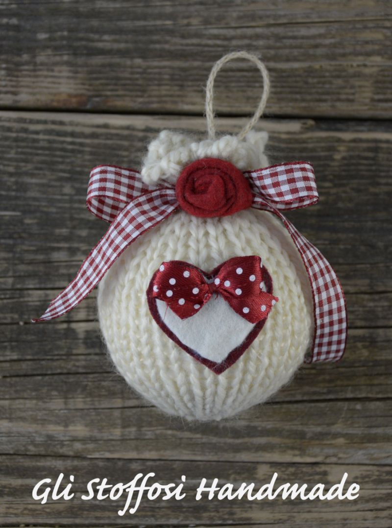 Palline di natale in stile country my handmade creations - Natale country decorazioni ...