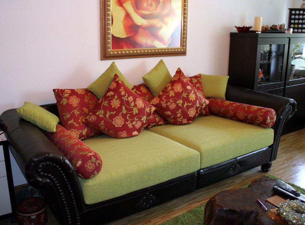 Sofa neu gepolstert und bezogen www.polsterei-brueckl.de