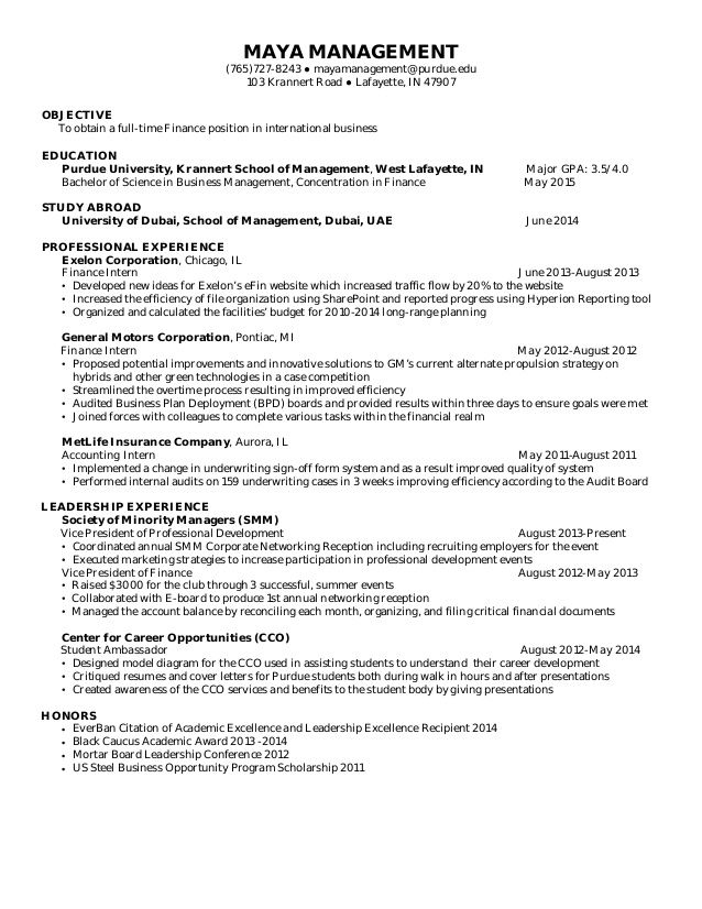 Resume Examples Purdue Resume Examples Pinterest Resume