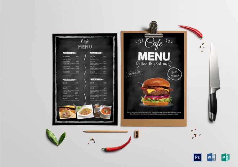Cafe Menu Template  Menu Template Designs    Cafe Menu