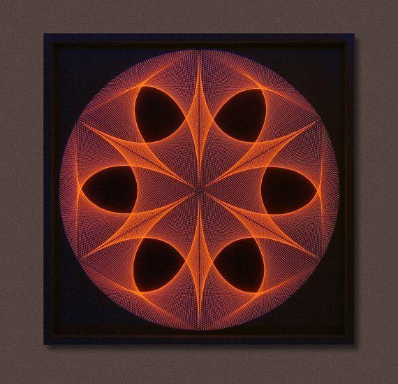 Wall Art Zen Large String Art Mandala in Brown & by FeniksArtDeco ...