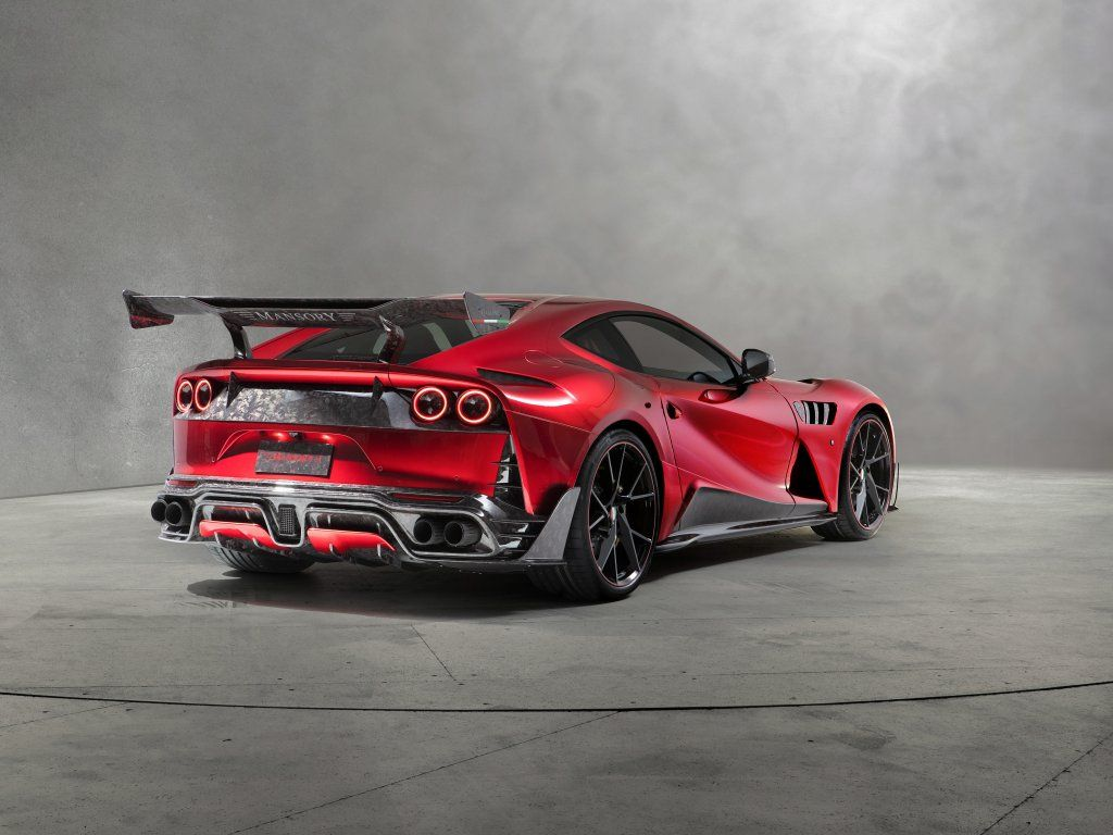 Mansory Stallone F12 2018 Sports Car Rear View Wallpaper Super Cars Sports Car Sports Cars