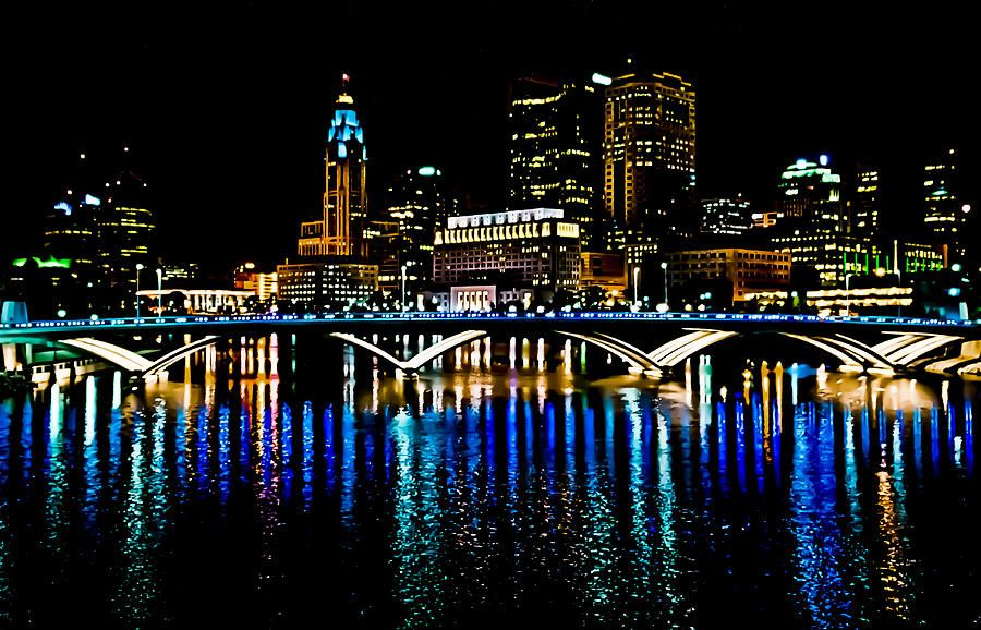 Good Night Columbus By Richard Marquardt Columbus Skyline