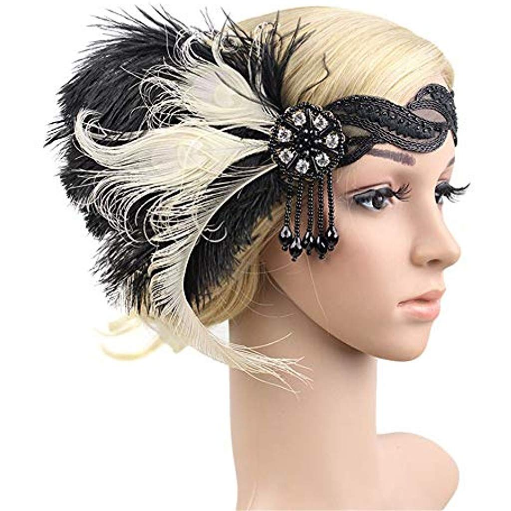 Retro Feather Headband Wedding Bride Headpiece Great  Party Headdress