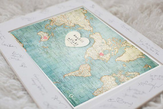 Custom map guest book by inspired art crafty crafts pinterest custom map guest book by inspired art gumiabroncs Images